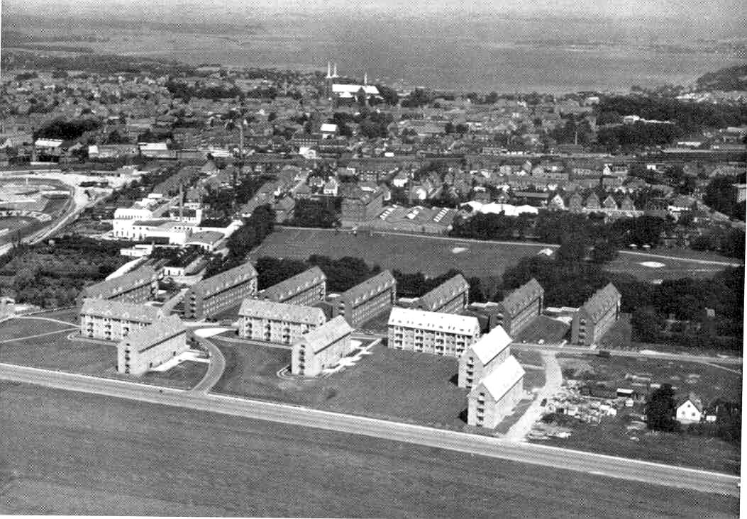 Luftfoto Ringparken 1958
